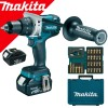 MAKITA DDF481RFE Masina de gaurit si insurubat cu 2 acumulatori Li-Ion, brushless, 18V, 3Ah, 115Nm + B-49921  Impact Gold Torsion Bit set 26 bucati