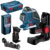 BOSCH GLL 2-80 P + BM 1 + LR 2 Nivela laser cu linii + Suport + Receptor + L-BOXX
