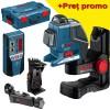 BOSCH GLL 2-80 P Nivela laser cu linii + BM 1 Suport + LR 2 Receptor + L-BOXX