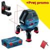 BOSCH GLL 3-50 + BM 1 Nivela laser cu linii + Suport + L-BOXX