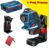 BOSCH GLL 3-80 P + BM 1 Nivela laser cu linii + Suport + L-BOXX