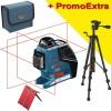 BOSCH GLL 3-80 P + BT 150 Nivela laser cu linii (40 m) + Stativ