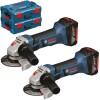 BOSCH GWS 18-125 V-LI Polizor unghiular cu 2 acumulatori Li-Ion, 4Ah + L-BOXX + GWS 18-125 V-LI (SOLO) Polizor unghiular + L-BOXX