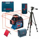 BOSCH GLL 3-80 + BT 150 Nivela laser cu linii (30 m) + Valiza + Stativ + LR 6 Receptor