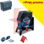 BOSCH GCL 2-50 C + RM 2 Nivela laser cu linii  (20 m) cu Bluetooth + Suport rotativ