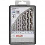 BOSCH  Caseta 10 burghie metal HSS-G ROBUST LINE