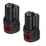 BOSCH GBA12V Acumulator LI-Ion, 12 V, 2 Ah (2 bucati)