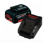 BOSCH GBA18V + AL1860CV Acumulator Li-Ion, 18V, 4Ah + Incarcator