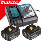 MAKITA  Kit acumulatori Li-Ion, 18V LXT, 5Ah (BL1850Bx2 + DC18RC)