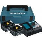 MAKITA  Kit acumulatori Li-Ion, 18V LXT, 6Ah (MAKPAC1 + BL1860Bx2 + DC18RC)