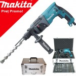 MAKITA HR2230X4 Ciocan rotopercutor SDS-plus 710W + Set 14 burghie SDS plus