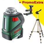 BOSCH PLL 360 Nivela laser autonivelanta cu linii la 360° + Suport universal +  Trepied HAMA