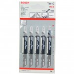 BOSCH T111C Set 5 panze Basic for Wood 100 mm