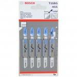BOSCH T118G Set 5 panze Basic for Metal 92 mm