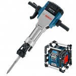 BOSCH GSH 27 VC Ciocan demolator 2000 W, 62 J + GML 20 Radio Li-Ion, 14.4-18V, fara acumulator in set (SOLO)